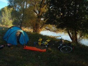 Unser Zelt in Altmühlheim